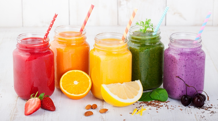 Smoothies, juices, beverages, drinks variety
